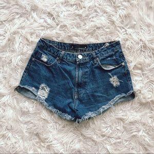 • Animale • Cut Off Denim Jean Shorts 4 (36)